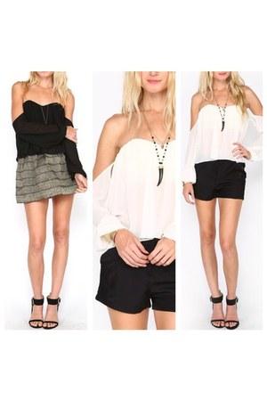 PUBLIK top - PUBLIK top - PUBLIK shorts - PUBLIK skirt