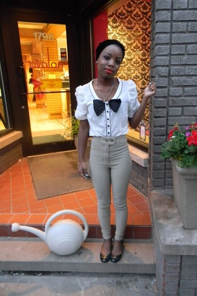 American Apparel pants - avalon H & M blouse - Nine West flats