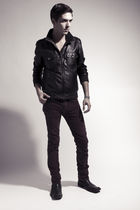 red American Apparel pants - black Urban Outfitters jacket - black Steve Madden 