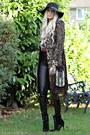 Karen-millen-coat-nine-west-boots-new-look-hat-spell-bag-topshp-pants