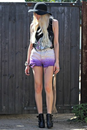 new look hat - diy Ebay shorts - AX Paris t-shirt