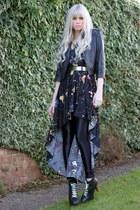 asos jacket - Jeffrey Campbell boots - AX Paris dress