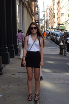 Alexander Wang top - American Apparel skirt - Target shoes - forever 21 purse