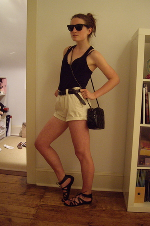 DIY shorts - forever 21 shirt - Target shoes - Ray Ban sunglasses