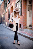 nude trench coat coat coat - black ripped DSTLD jeans