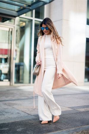 peach trench coat Mango jacket