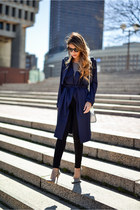 navy trench coat Lookbook Store jacket - black black 7 for all mankind jeans