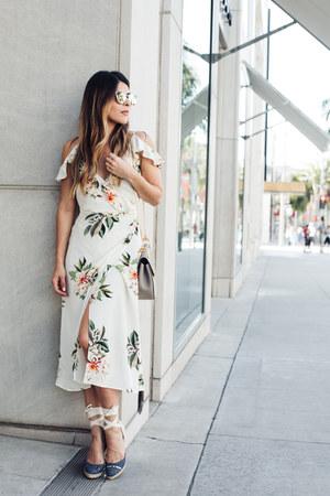 ivory floral Topshop dress