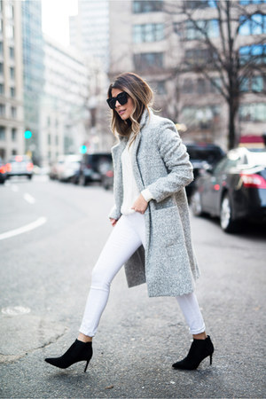 heather gray structured Zac Posen coat