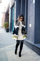 olive green faux-fur Dawn Levy vest