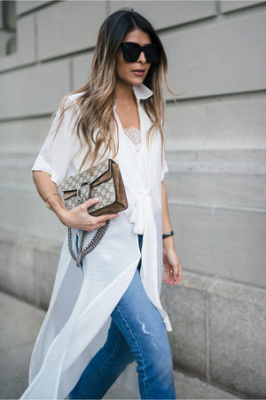 white dress asos shirt