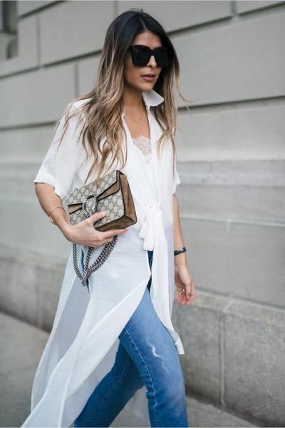 white dress asos shirt