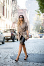 Dark-khaki-cropped-trench-reiss-jacket-black-leather-reiss-skirt
