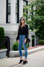 Black-mules-banana-republic-shoes-blue-high-waist-asos-jeans