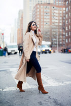 tan belted Missguided coat