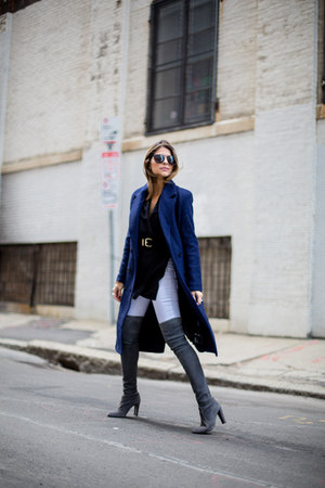 navy navy The Hanger coat - heather gray over the knee stuart weitzman boots