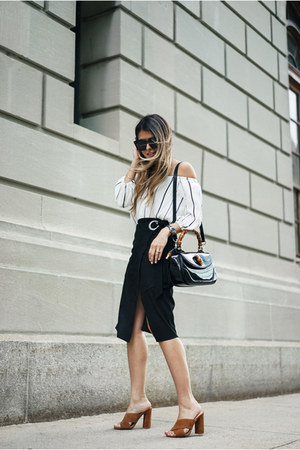 black wrap Mango skirt