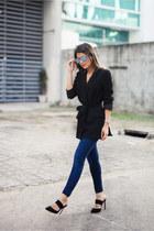 black belted asoscom blazer
