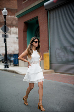 white eyelet crochet Chicwish dress