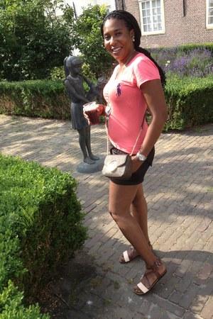 shirt - Michael Kors bag - shorts - sandals