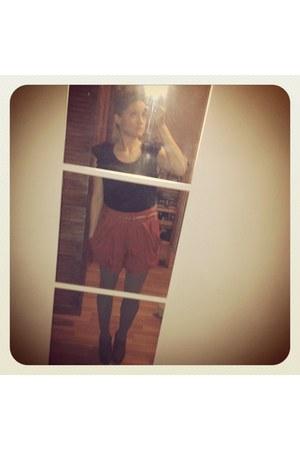 boutique heels - cotton H&M shirt - Target tights