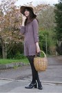Black-mary-jane-new-yorker-shoes-light-purple-knitted-h-m-dress-beige-bershk
