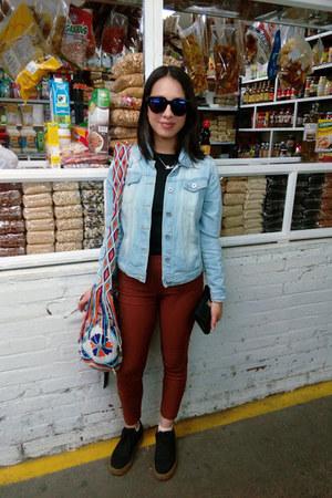 Bershka jacket - handmade bag - Zara t-shirt - pull&bear sneakers