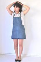 sky blue Topshop skirt - white Sybilla top