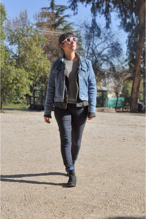 blue liz claiborne jacket - navy Topshop jeans