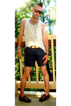 gray American Apparel shorts - beige Standard Cloth top - brown Steve Madden sho