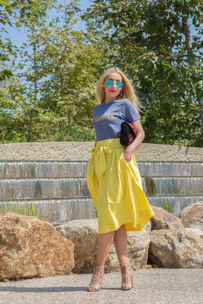 alaia boots - Rodarte t-shirt