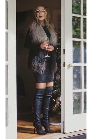black Wolford skirt