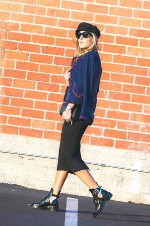 black Zara skirt