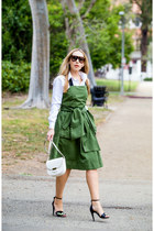 army green Marc by Marc Jacobs dress - white Celine bag