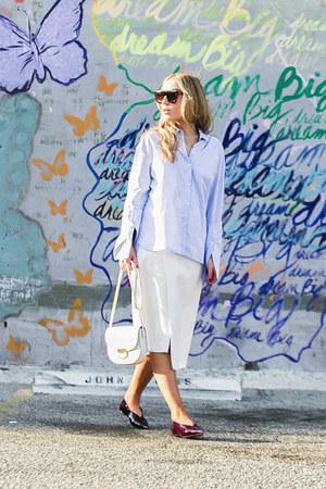 light blue Zara shirt