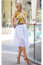 Bebe blouse - Chanel bag - christian dior sandals