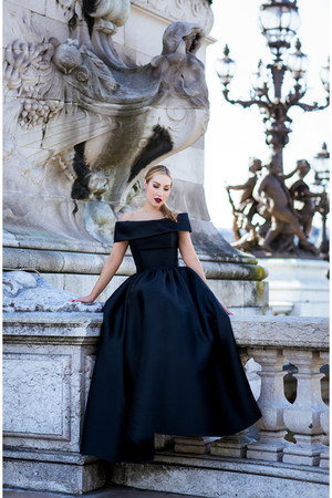 black Reem Acra dress