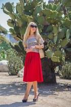 asos skirt - Chanel bag