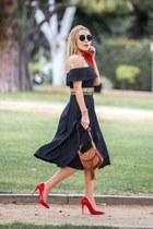 gray Reformation dress - burnt orange Chloe bag
