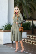 olive green banana republic dress
