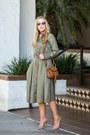 Olive-green-banana-republic-dress