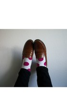 polka dot f21 socks - penny loafers Cole Haan loafers