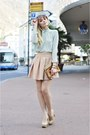 Light-pink-zara-skirt-mango-sunglasses-nude-steve-madden-heels