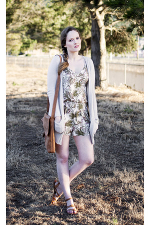 Forever 21 dress - Lucky Brand sandals - American Eagle cardigan