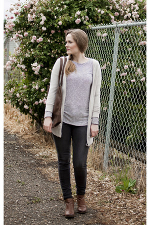 Lucky Brand boots - Joes Jeans jeans - American Eagle cardigan - Forever 21 top
