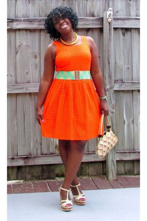 carrot orange Old Navy dress