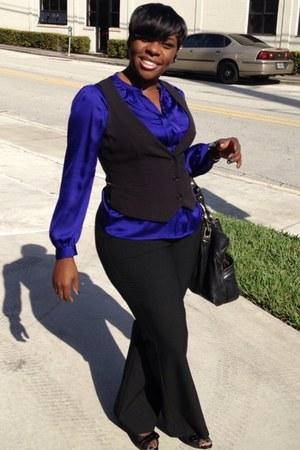 cobalt blue liz claiborne blouse