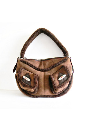 suede shearling Marc Jacobs bag