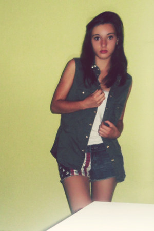 Primark shirt - america shorts - top