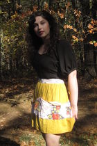gold This Shop Rocks Apron - black Urban Outfitters dress - brown ANDRE boots